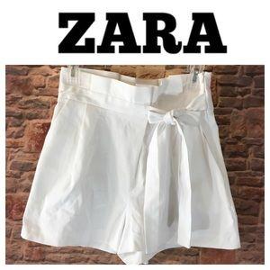 💙ZARA Trafaluc Collection white dress short sz M